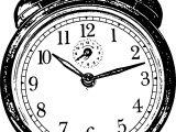 Vintage Clock Coloring Page