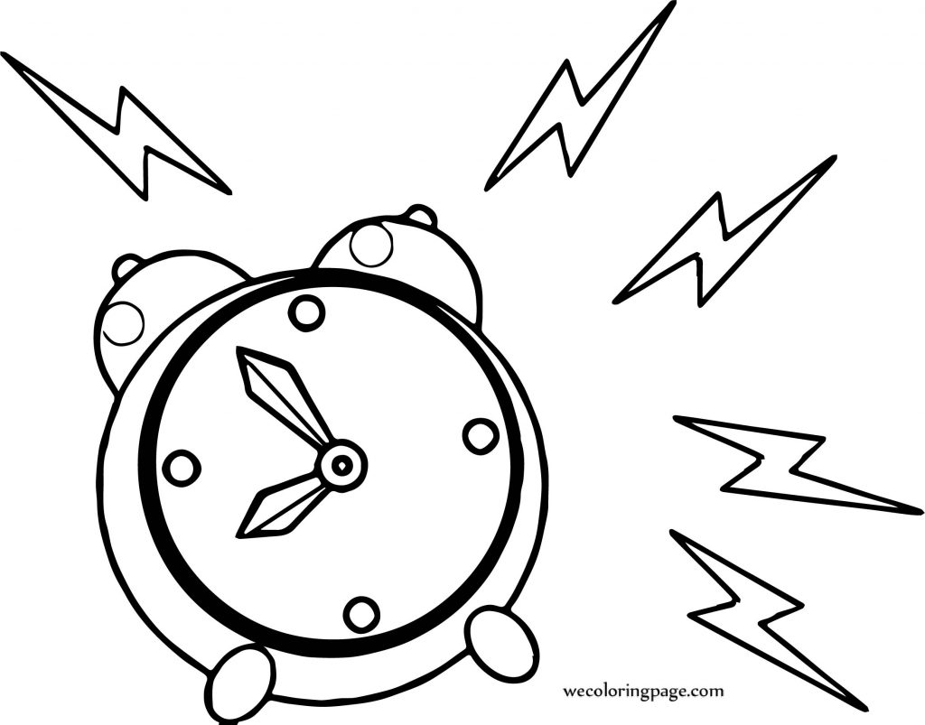 Wake Up Alarm Clock Coloring Page Wecoloringpage