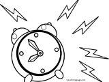 Wake Up Alarm Clock Coloring Page
