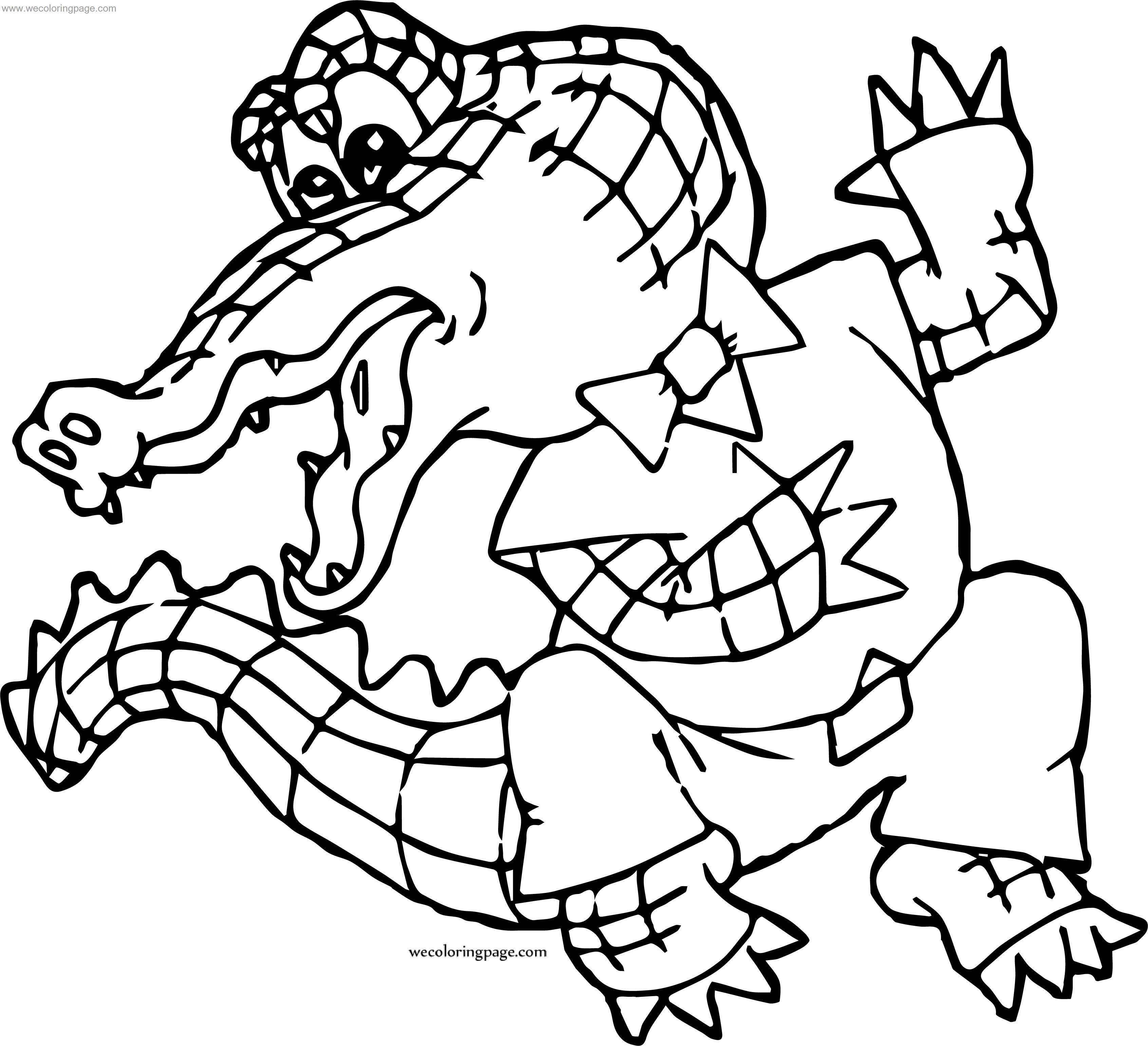Want Crocodile Alligator Coloring Page