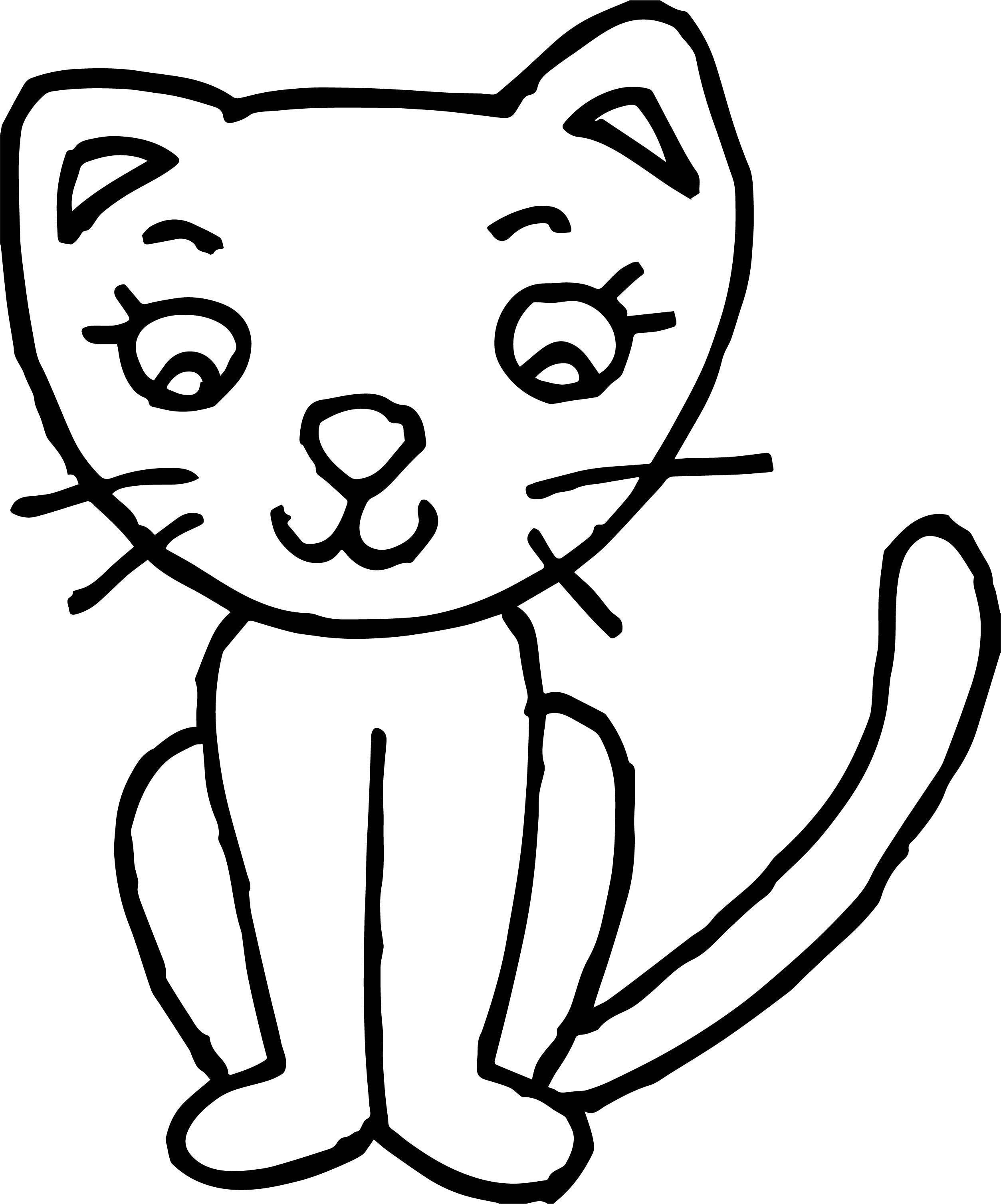 Way Cat Coloring Page