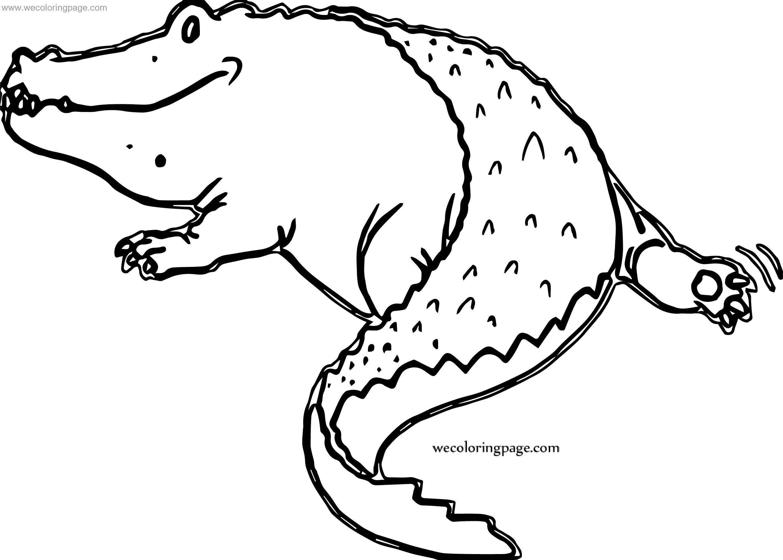 We Crocodile Alligator Coloring Page