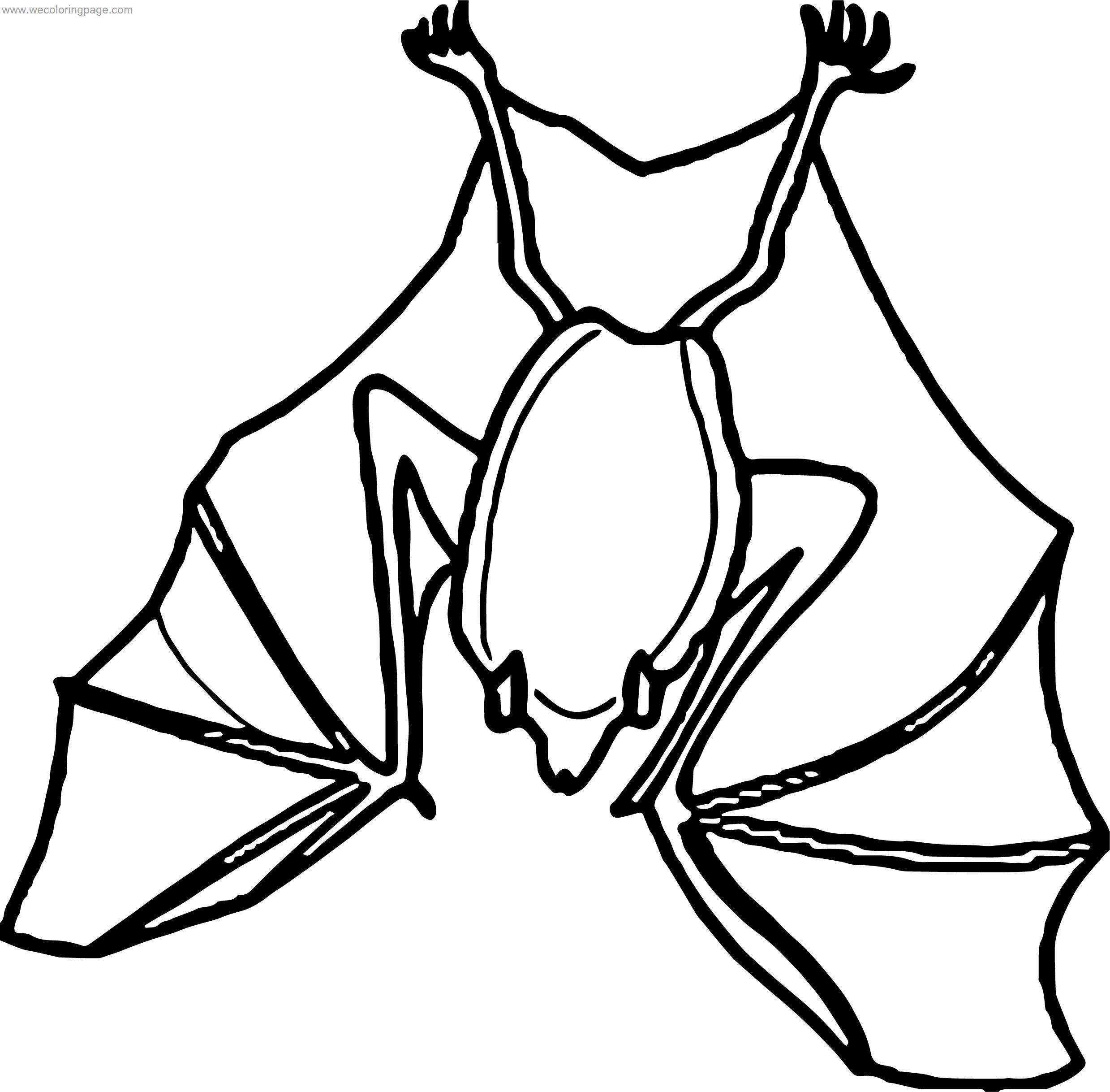 Well Bat Coloring Page