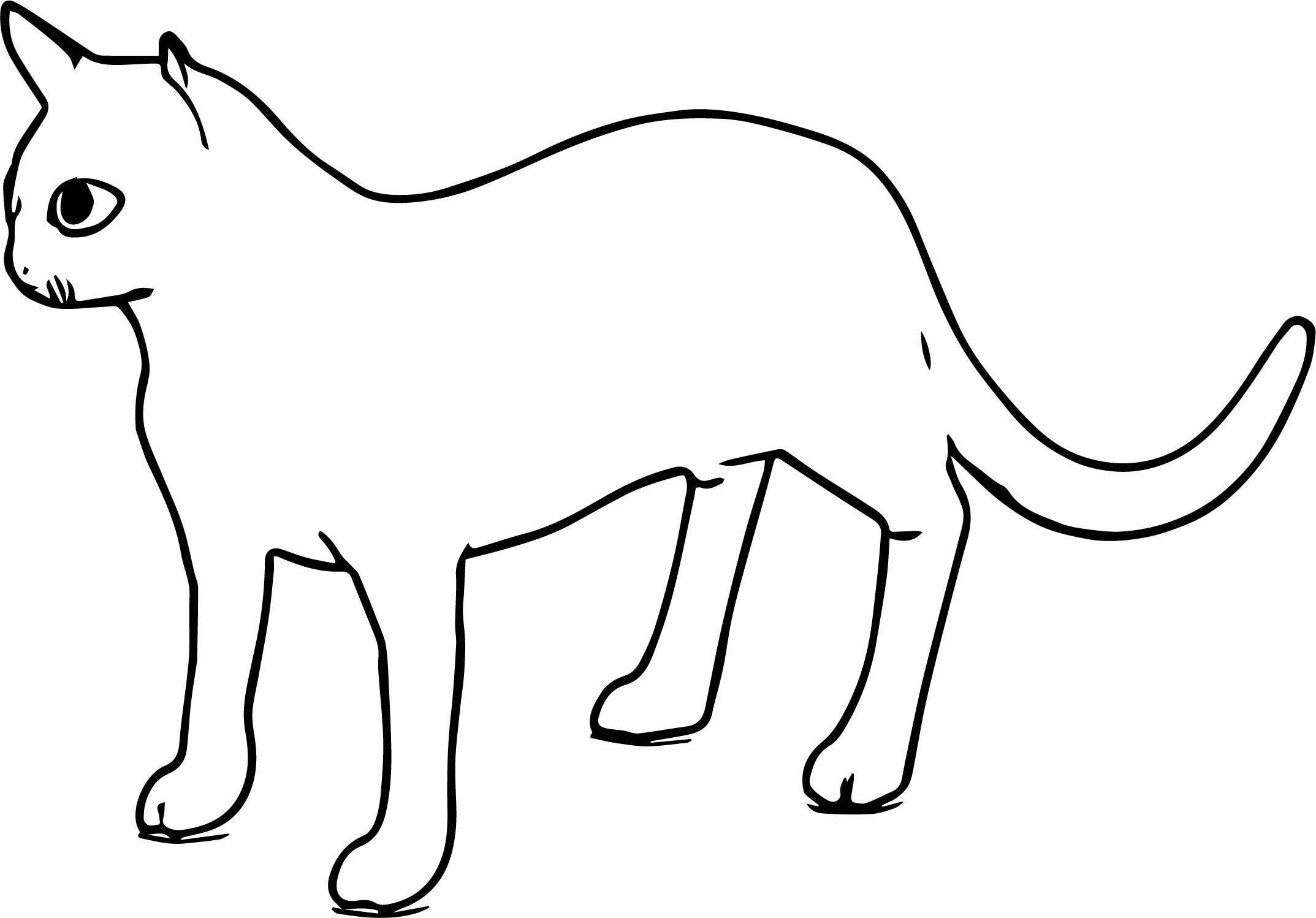 Went Cat Coloring Page