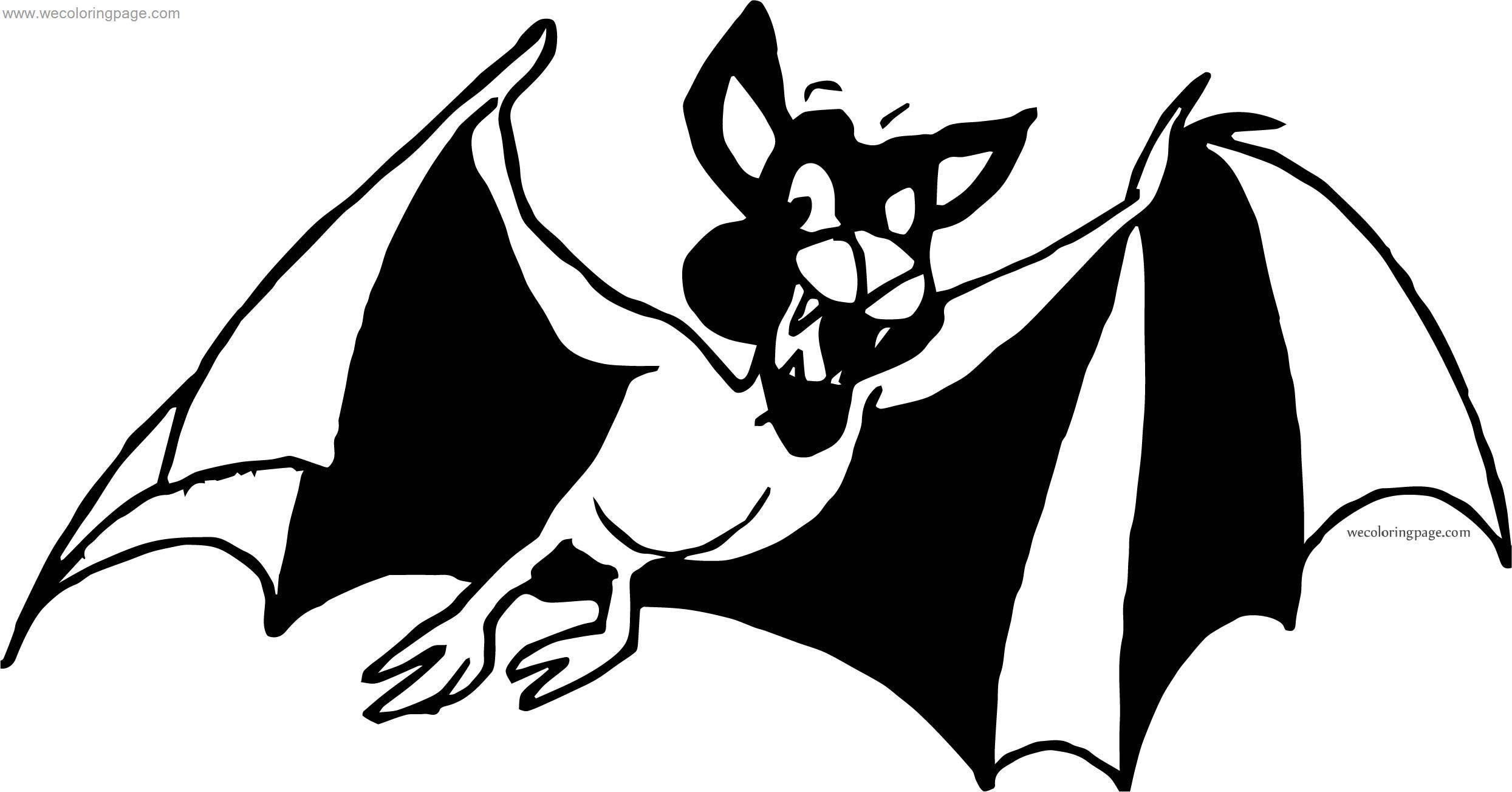 When Bat Coloring Page