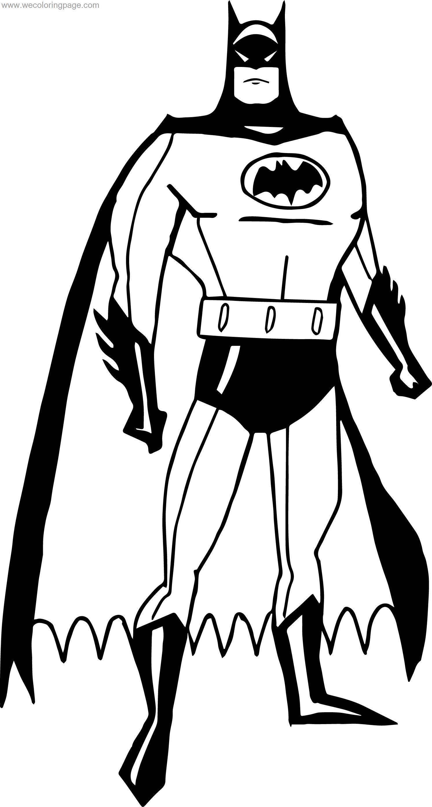 When Batman Coloring Page