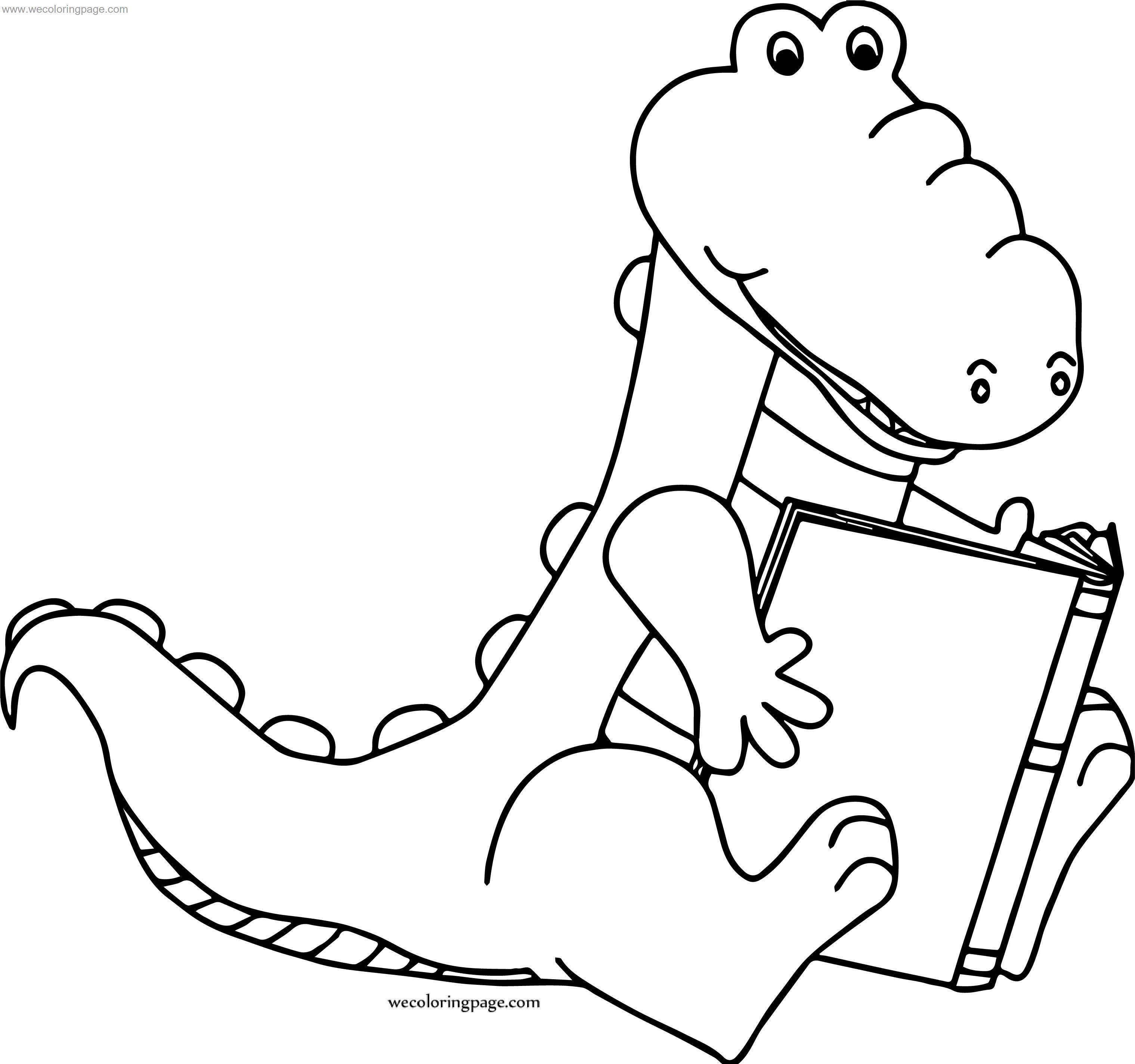 When Crocodile Alligator Coloring Page