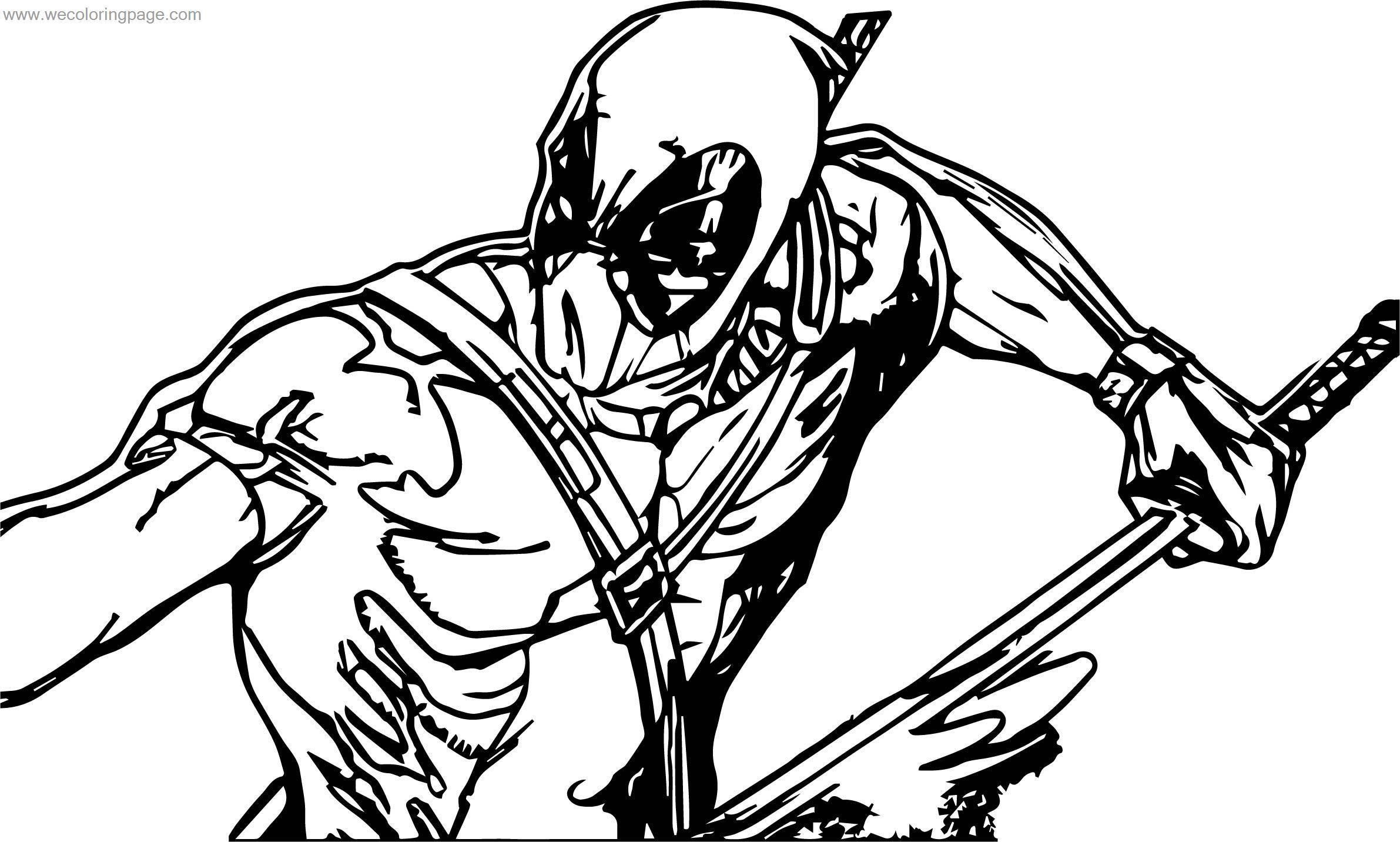 When Deadpol Coloring Page