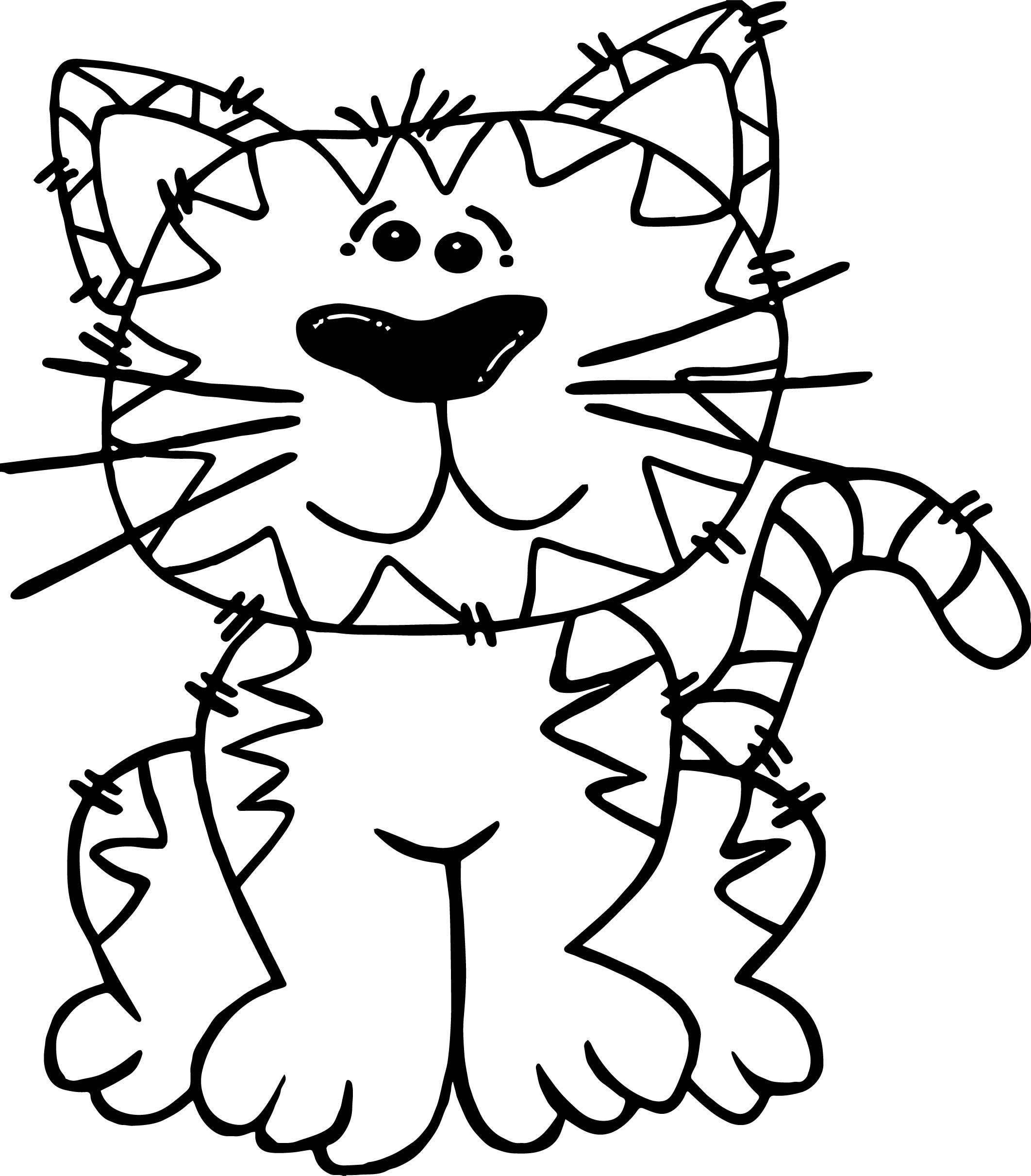 Why Cat Coloring Page