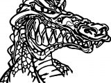 Wild Crocodile Alligator Coloring Page