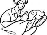 Woman Dentist Dental Coloring Page