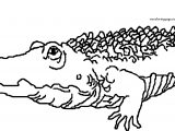 Word Crocodile Alligator Coloring Page