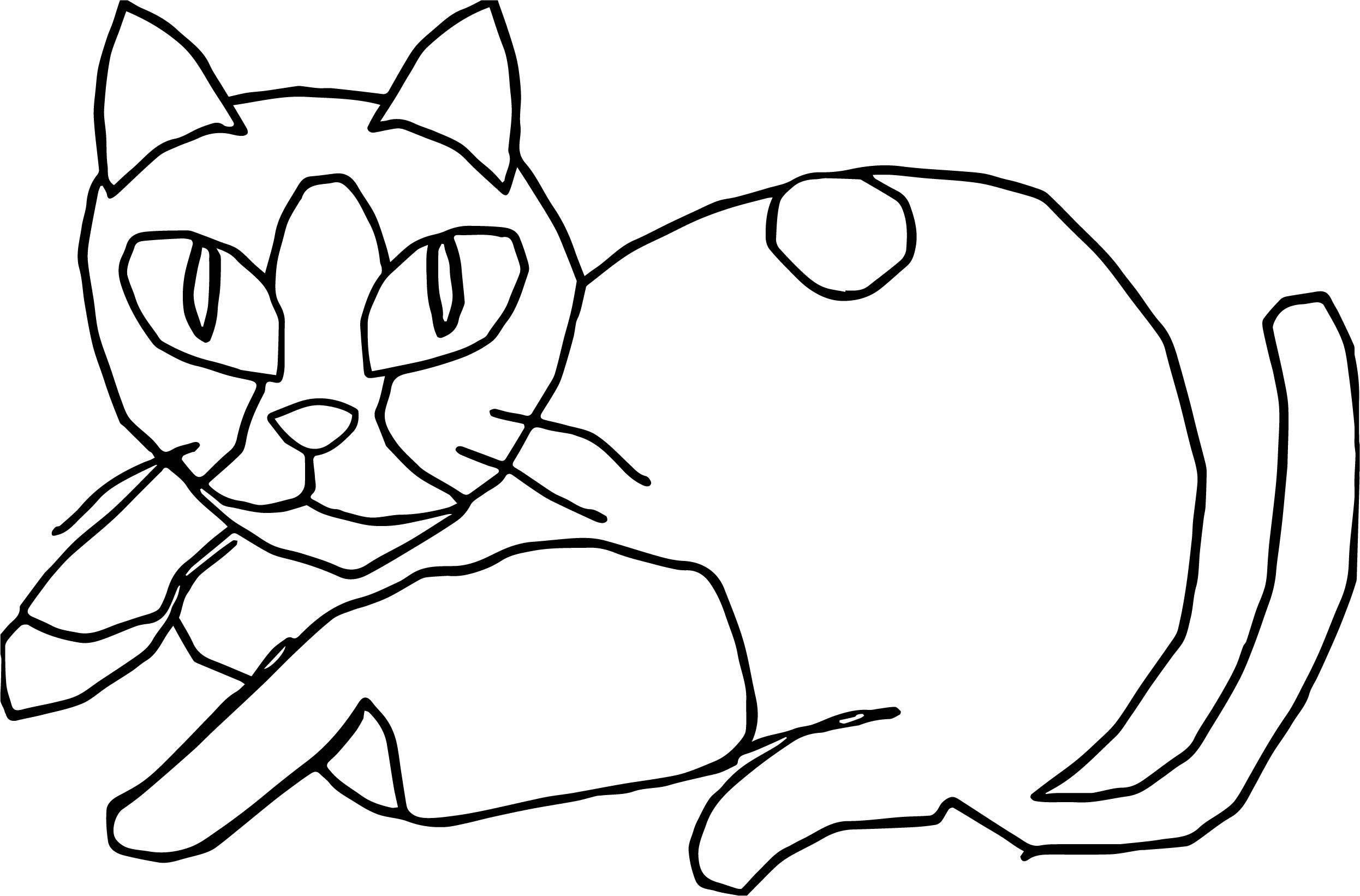 Would Cat Coloring Page
