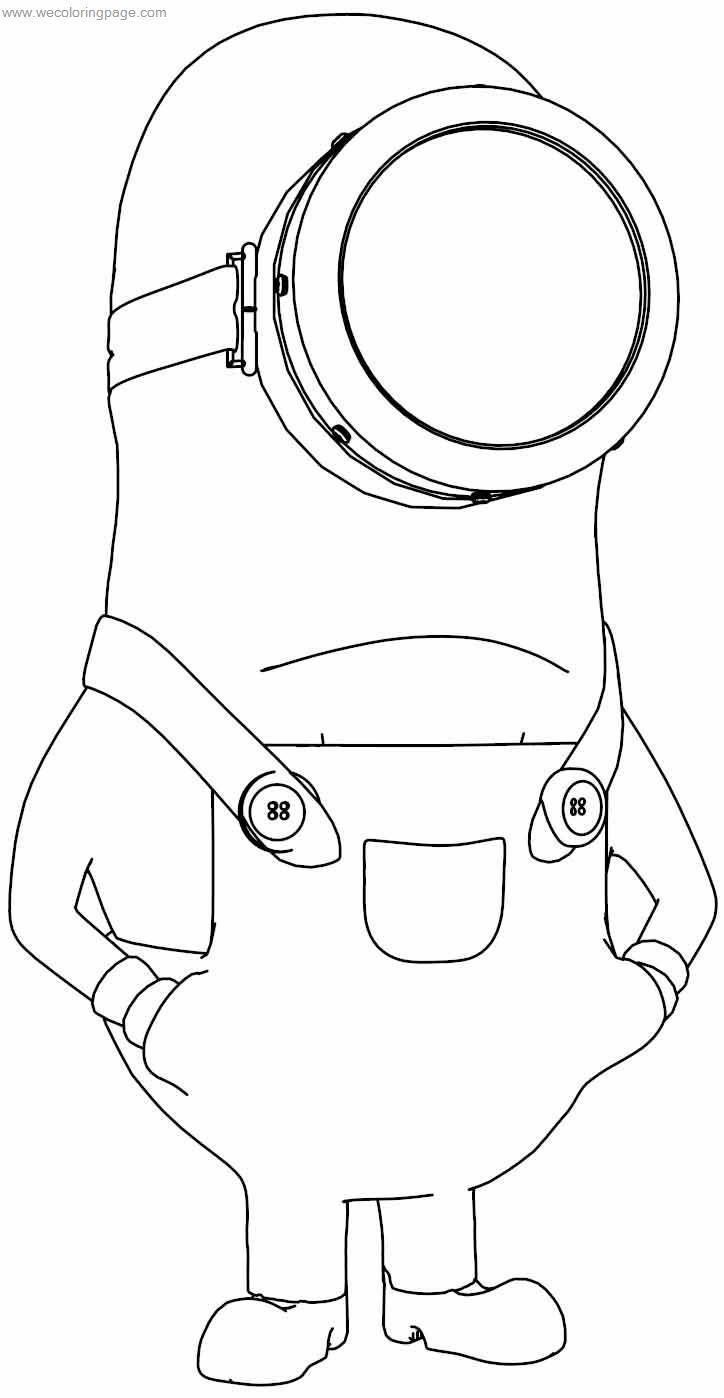 despicable me one eye minion coloring page