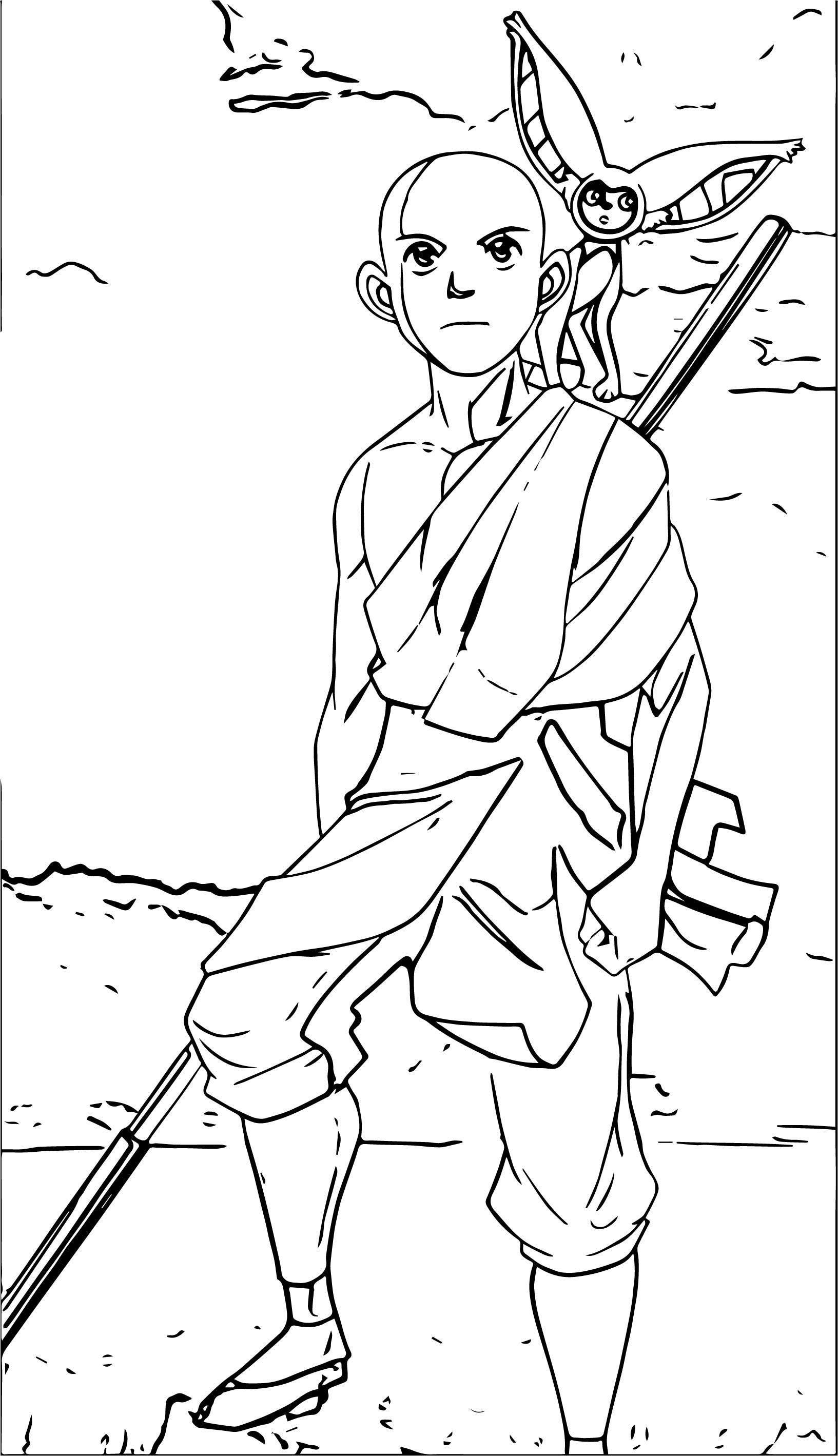 Aang Avatar Aang Coloring Page  2141452 2141452