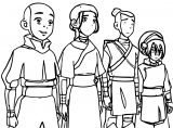 Aang Gang Avatar Aang Coloring Page