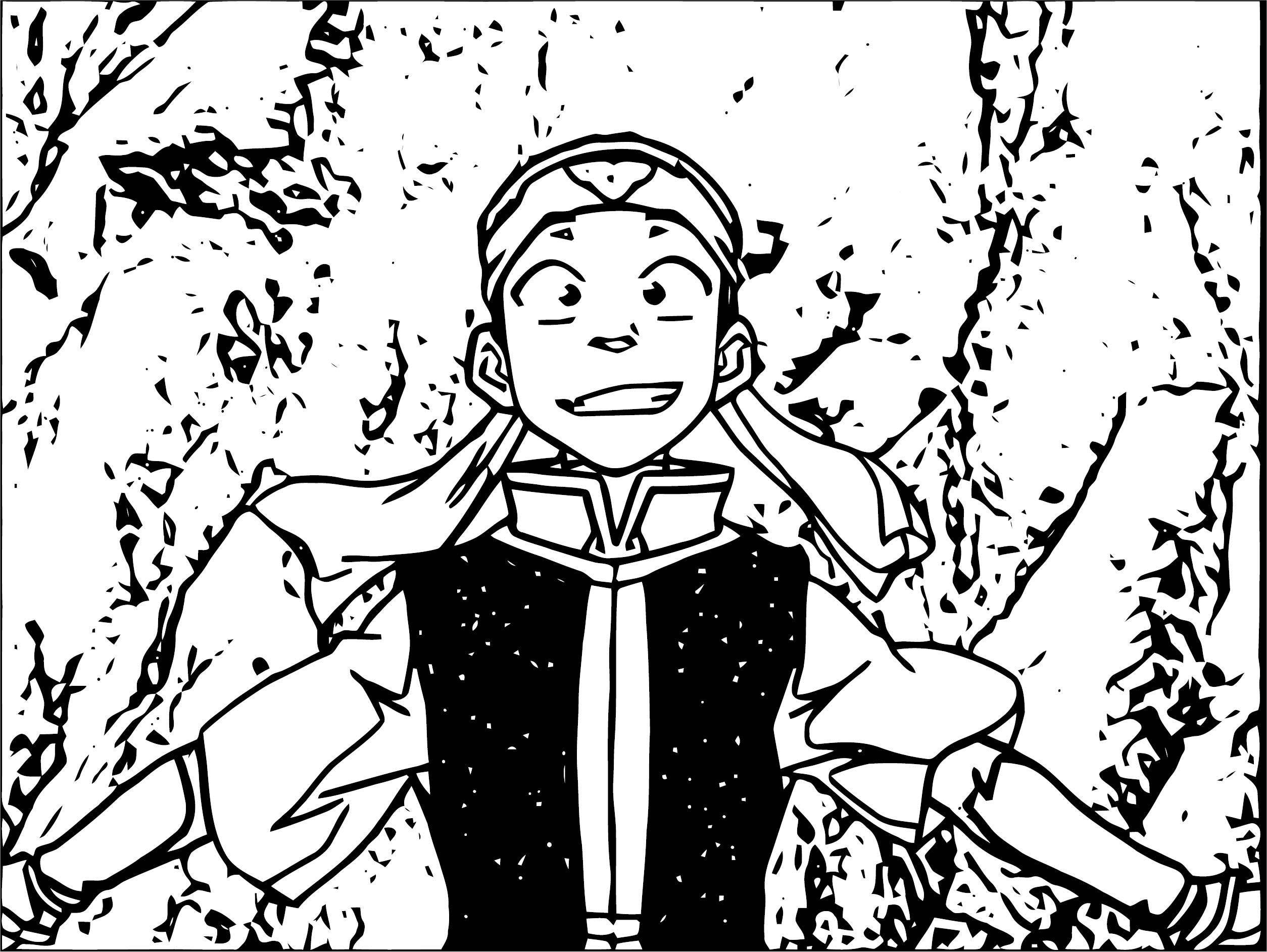 Aang In Student Attire Avatar Aang Coloring Page
