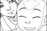 Aang Katara Avatar The Last Airbender Avatar Aang Coloring Page 2141451 2141451