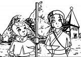 Aang Katara Avatar The Last Airbender Avatar Aang Coloring Page 2141452 2141452