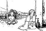 Aang Katara Kataang Avatar Aang Coloring Page