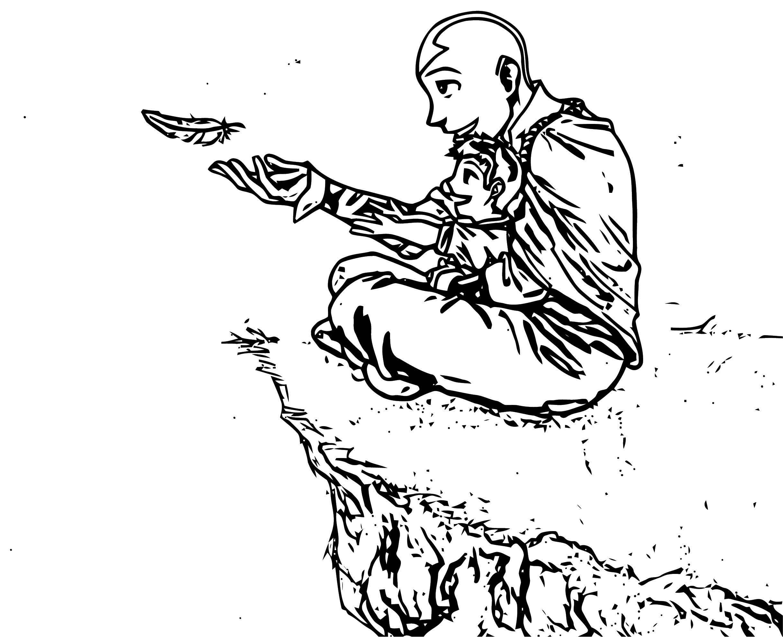 Aang Katara Kataang Avatar Aang Coloring Page 2141452 2141452