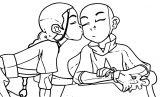 Aang Katara Kataang Avatar Aang Coloring Page 2141453