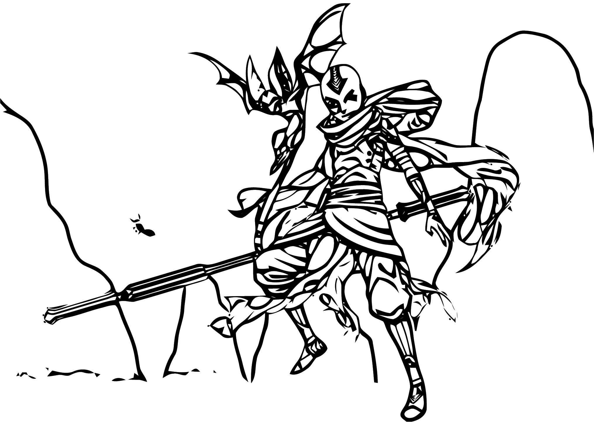 Aang Redesigned Osy Dbsh Avatar Aang Coloring Page