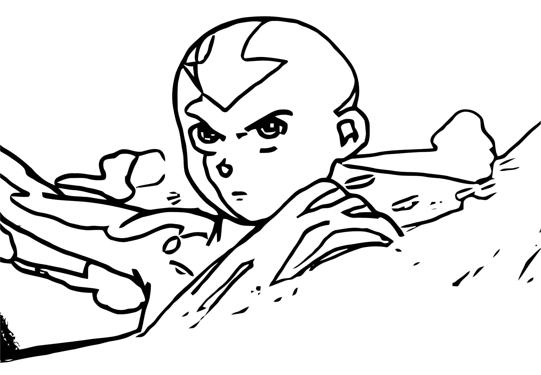 Aang The Epic Avatar Solkorra Solkorra Decak Avatar Aang Coloring Page
