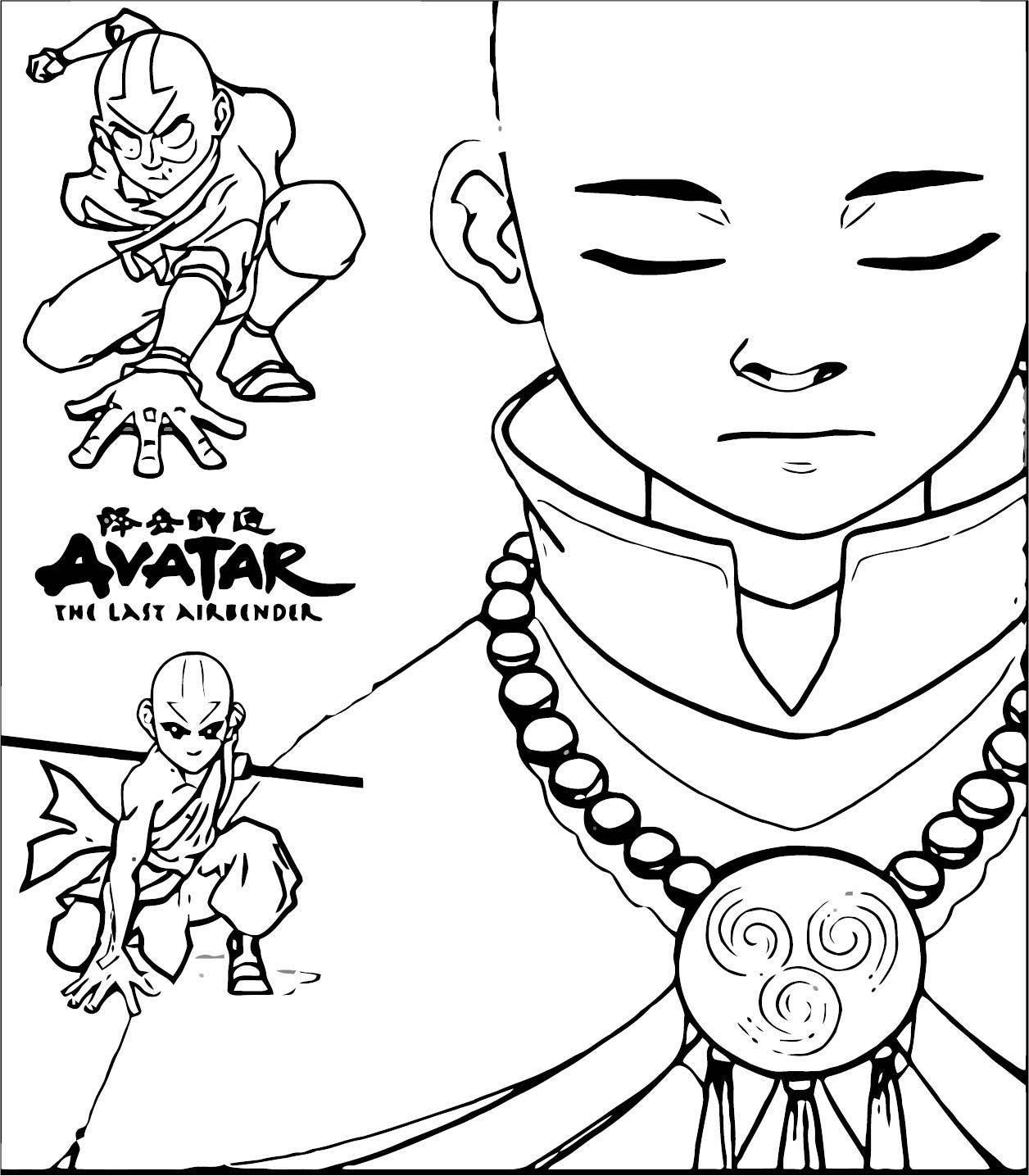 Avatar Aang Coloring Page: Aang The Last Airbender Becksgirl Dyjzf Avatar Aang
