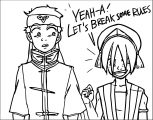 Aang Toph Break Some Rules Psychej Divmx Avatar Aang Coloring Page