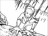 Aang Using The Vines' Connection Avatar Aang Coloring Page