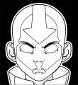 Aang Vector Biggstankdogg Avatar Aang Coloring Page