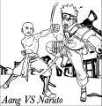 Aang Vs Naruto Tony Antwonio Dwepz Avatar Aang Coloring Page