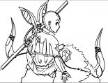 Aang Wallpaper Wei Long Avatar Aang Coloring Page