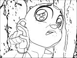 Aang Weird Face Avatar Aang Coloring Page