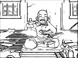 AangVomits Avatar Aang Coloring Page