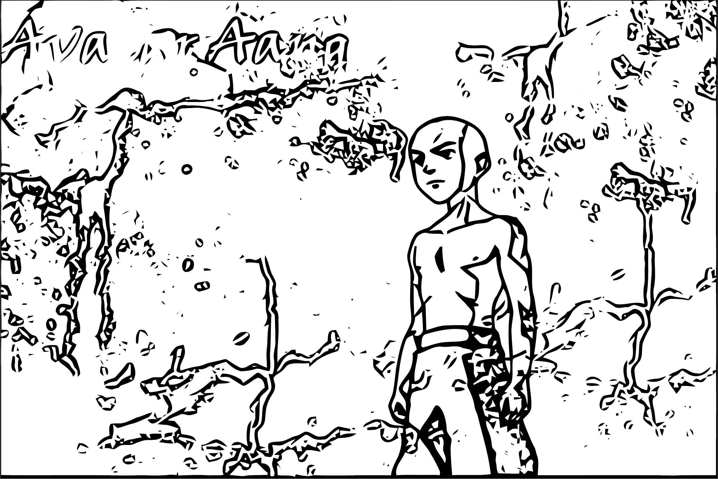 Abe Avatar Aang Coloring Page