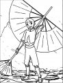 Airbender Aang Mystryl Shada Avatar Aang Coloring Page