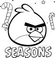 Angry Birds Seasons Candy Coloring Page