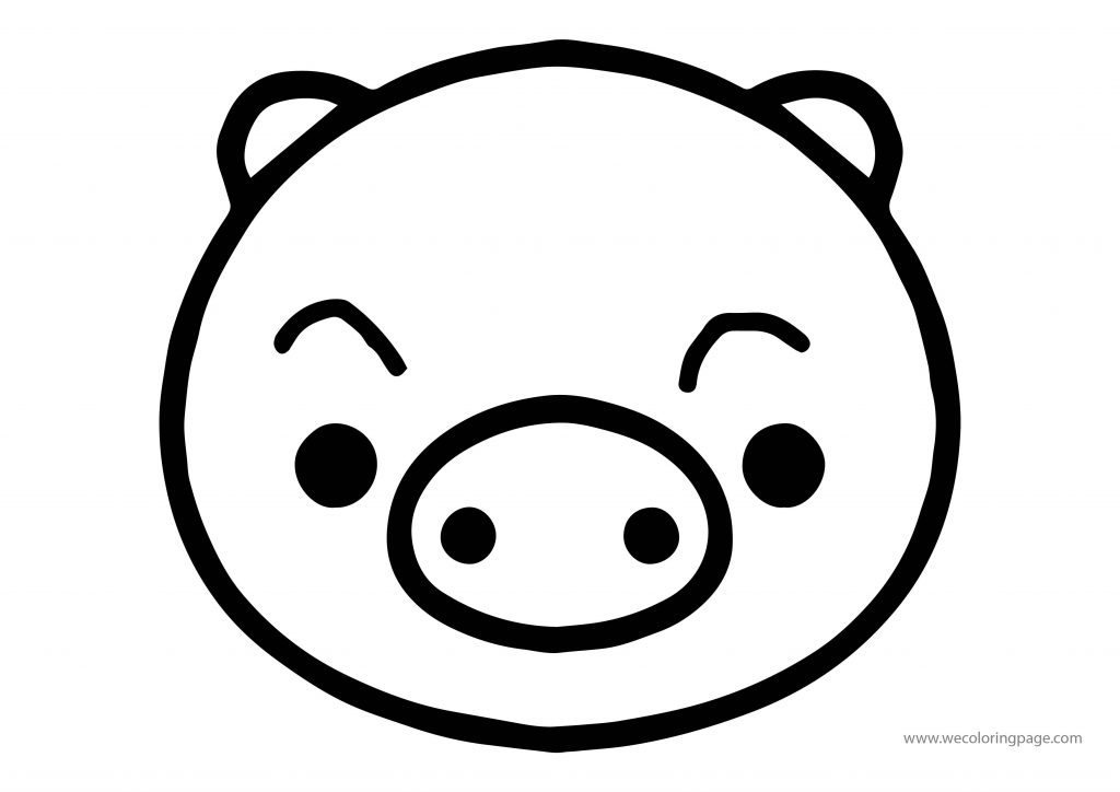 Animals Pig Face Coloring Page | Wecoloringpage.com