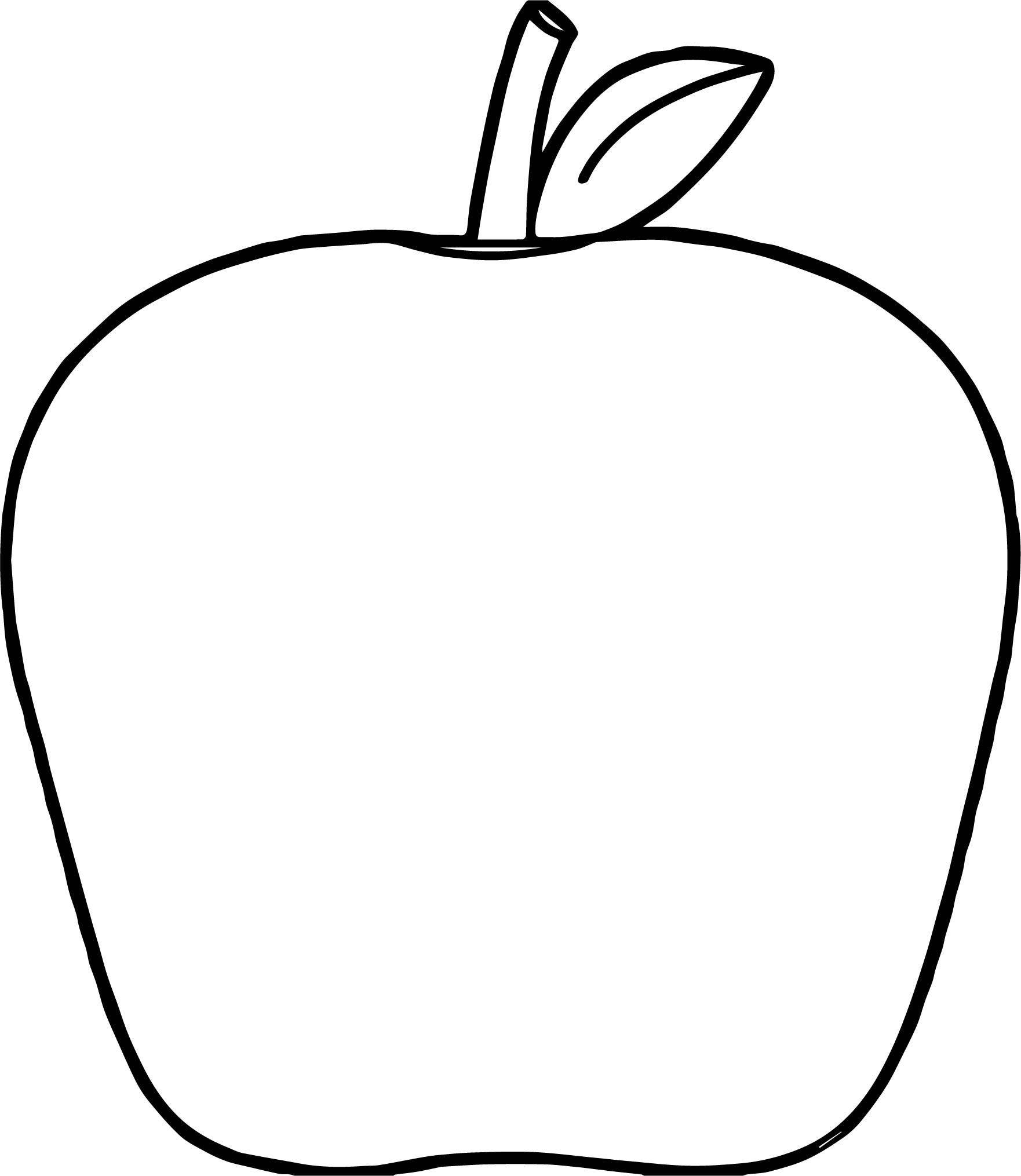 Apple Coloring Page WeColoringPage 117