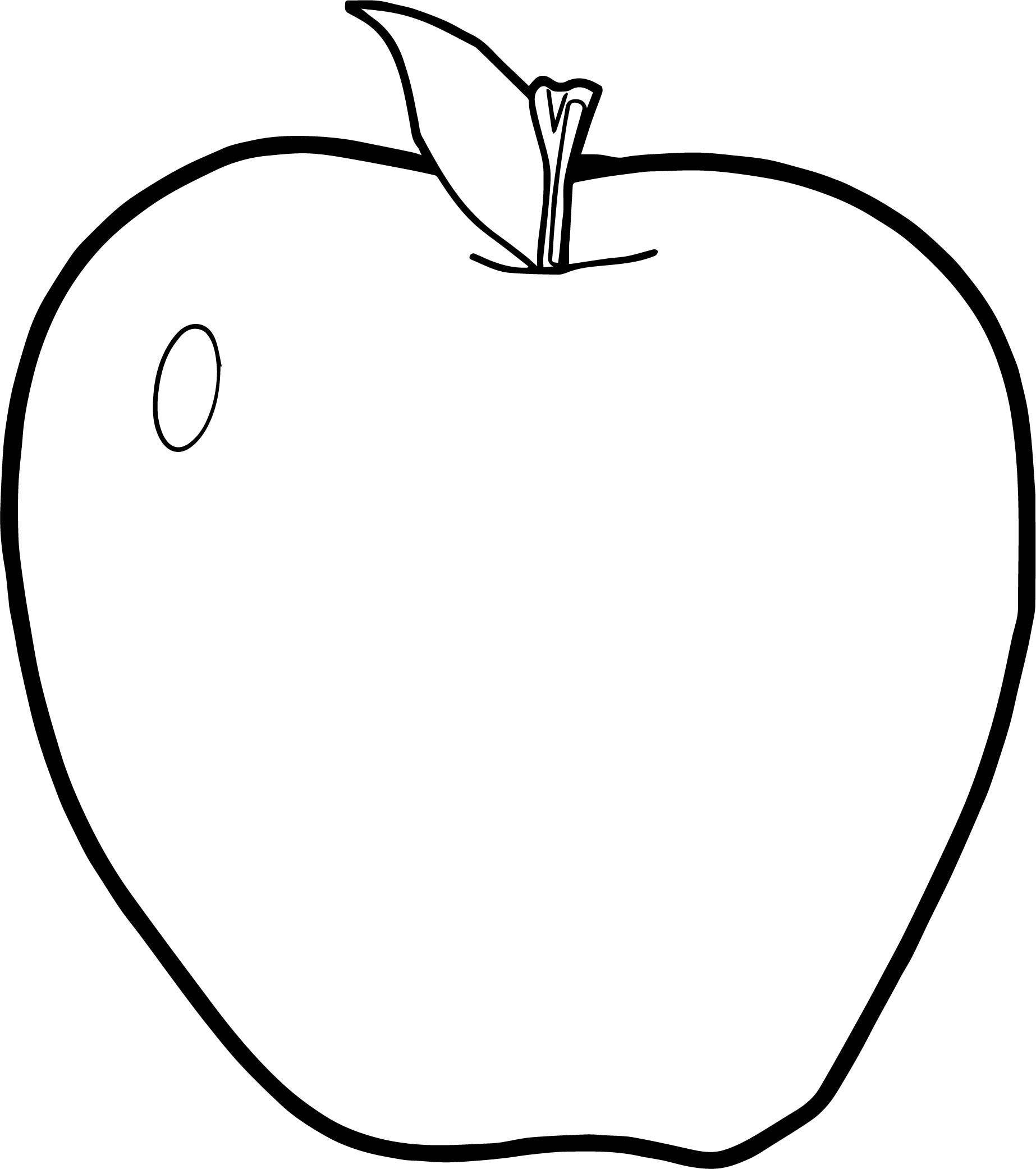 Apple Coloring Page WeColoringPage 124