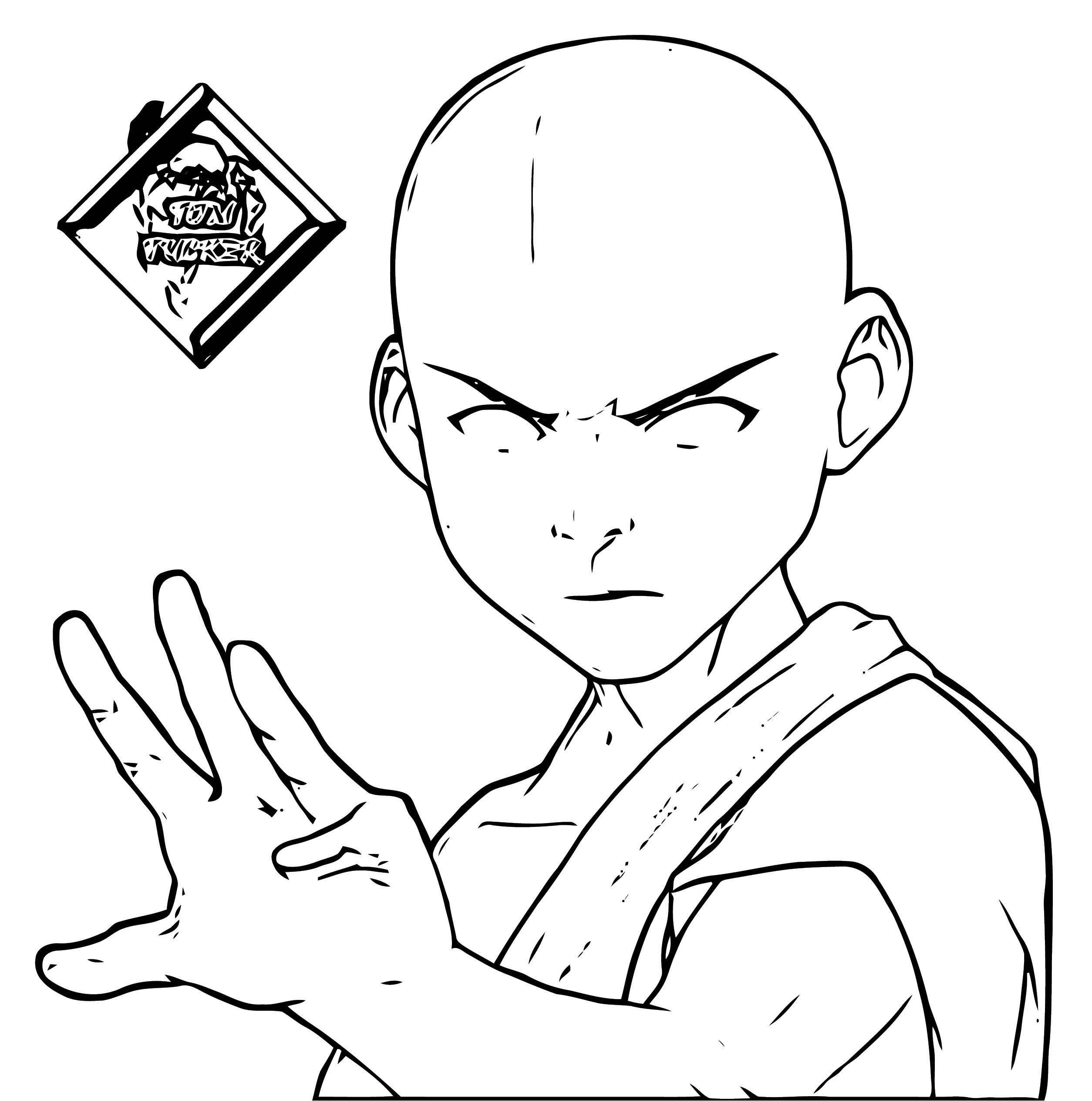 Avatar Aang Coloring Page: Avatar Aang Avatar Aang Avatar Aang Coloring Page 2141451
