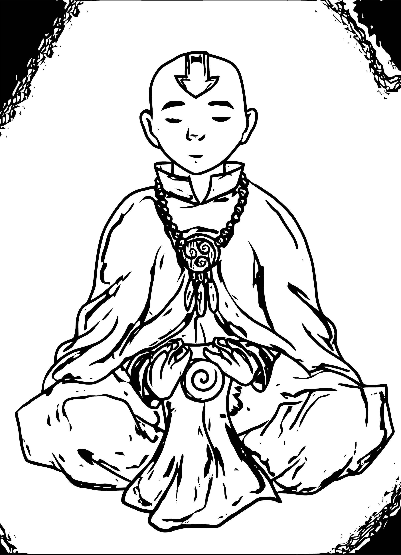 Avatar Aang Esperta Avatar Aang Coloring Page