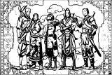 Avatar Aang Katara Tof Zuko Soka Romo Druzya Karta Wallpaper HD Avatar Aang Coloring Page