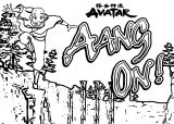 Avatar Aang On Game X Avatar Aang Coloring Page