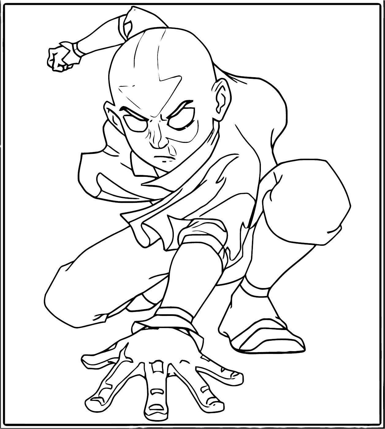 Avatar Aang Shortyman Avatar Aang Coloring Page