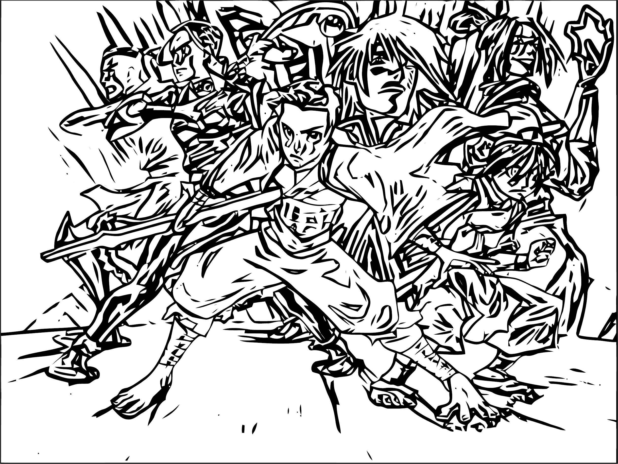 Avatar Aang Wallpaper Desktop Avatar Aang Coloring Page