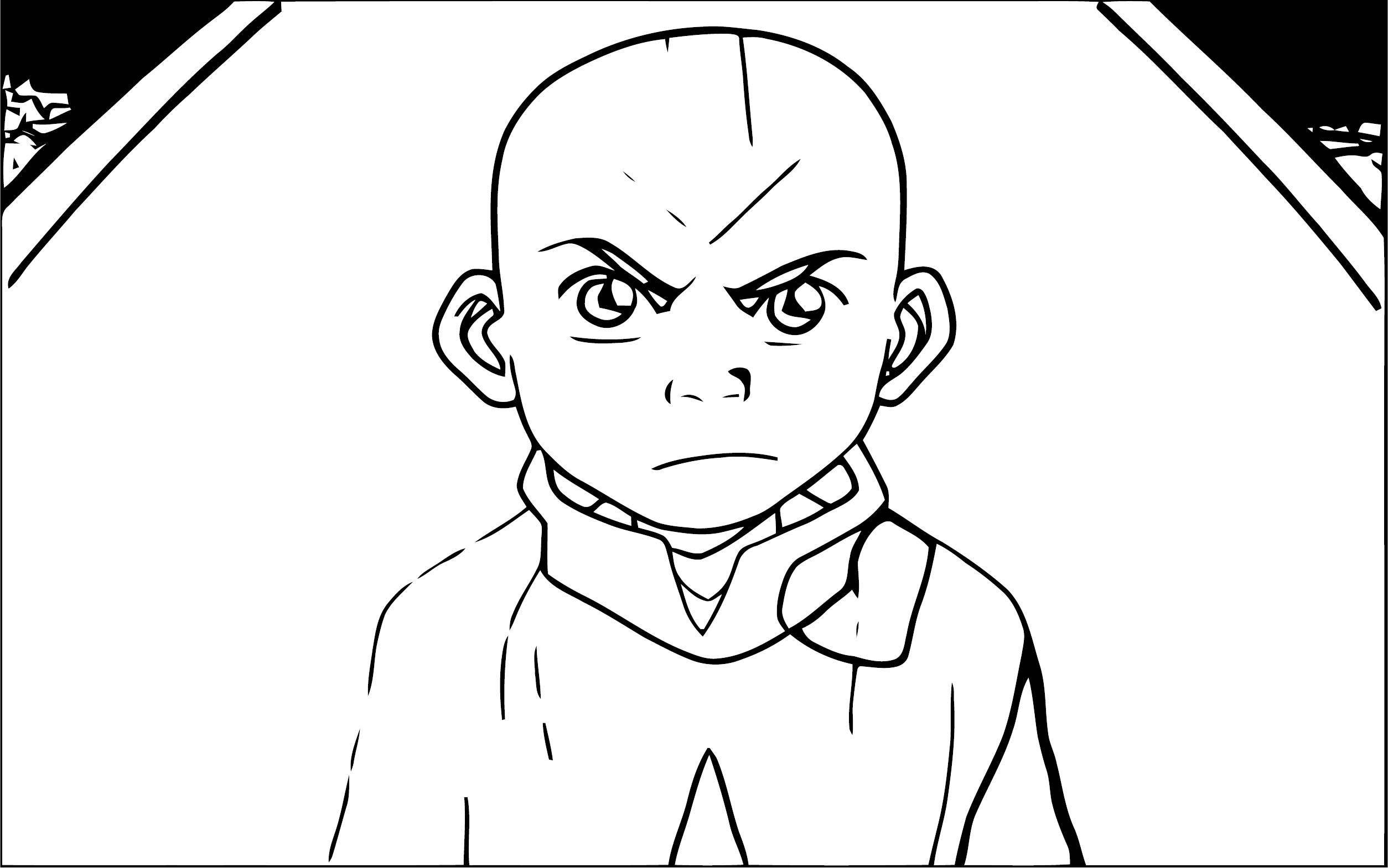Avatar Angry Aang Pakpolaris Dfcm Avatar Aang Coloring Page