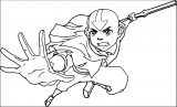 Avatar Avatar Aang Coloring Page